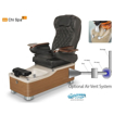 Chi spa chair with air vent system
