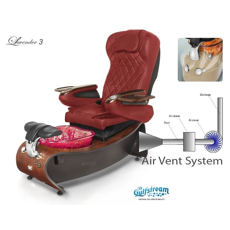 Lavender 3 spa chair with air vent system