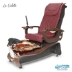 La Violette spa chair in dark cherry base, rusted gold bowl, 9620 hollyhock