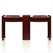 mahogany color double nail table