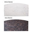 light and dark marble table top