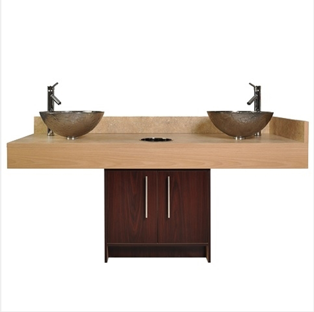Picture of Contemporary Island Sink with Glass Bowl