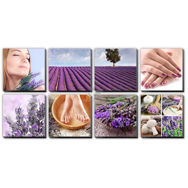 Picture of Lavender Fields Ensemble Canvas Mural
