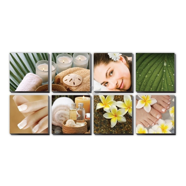 Picture of Tropical Plumeria Ensemble Canvas Mural