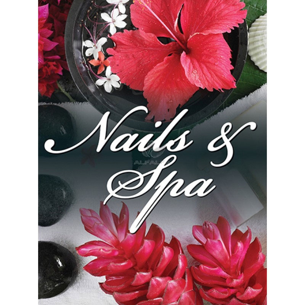 Picture of Holographic Window Decal - Nails & Spa - H-9