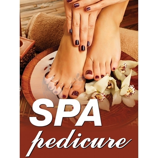 Picture of Holographic Window Decal - Spa pedicure - H-2