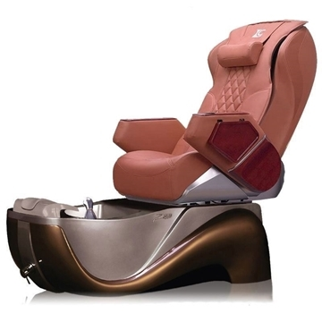 z450 pedicure chair in cafe latte base and cappuccino top