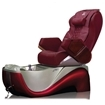 Z450 pedicure spa in red base & burgundy top chair