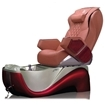 Z450 pedicure spa in red base & cappuccino top chair
