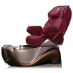 Z450 pedicure spa in cafe latte base & burgundy top chair