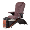Echo SE pedicure chair in cherry base and burgundy top