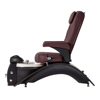 Echo SE pedicure chair in cherry base and burgundy top side view