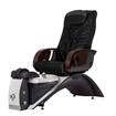 Echo LE pedicure chair in espresso base and black top