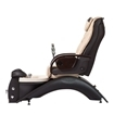 Echo LE pedicure chair in espresso base and almond top