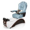 Elite pedicure spa in white pearl / espresso base and glacier blue top chair