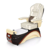 Elite pedicure spa in espresso / champagne base and opal top chair