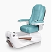 Luminous pedicure spa in white base and neptune top chair