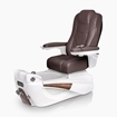 Luminous pedicure spa in white base and walnut top chair