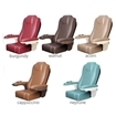 Luminous pedicure spa chair color options