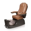 Liberte pedicure spa in espresso base and cappuccino chair