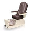 Liberte pedicure spa in champagne base and walnut chair
