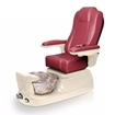 Liberte pedicure spa in champagne base and burgundy chair