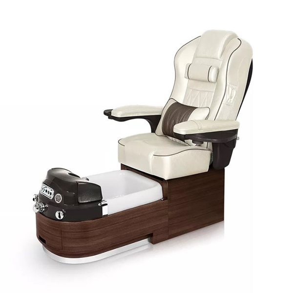 Envision pedicure spa in dark walnut laminate and opal leather