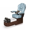 Envision pedicure spa in dark walnut laminate and glacier blue leather