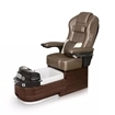 Envision pedicure spa in dark walnut laminate and cola leather