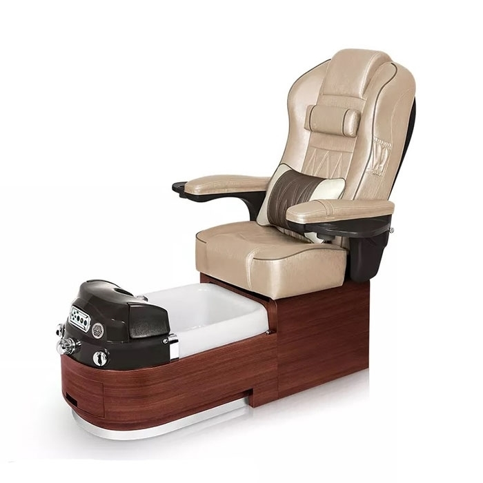 Envision pedicure spa in sedona red laminate and glazed gold leather