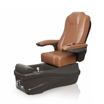 Versas pedicure spa in espresso base and cappuccino chair