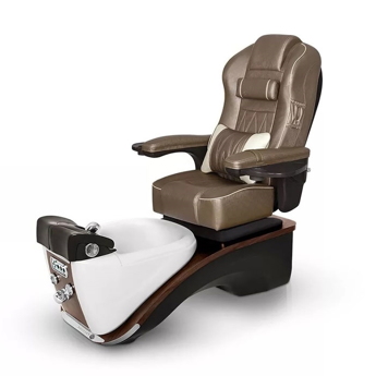 Prestige pedicure spa in white pearl / espresso base and cola chair