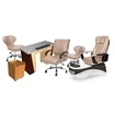 PSD-400 pedicure chair and salon furniture in taupe color