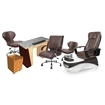 PSD-400 pedicure chair and salon furniture in brown color