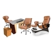 PSD-400 pedicure chair and salon furniture in cappuccino color