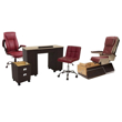 T1000 pedicure chair and salon furniture in red color