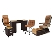 T1000 pedicure chair and salon furniture in cappuccino color