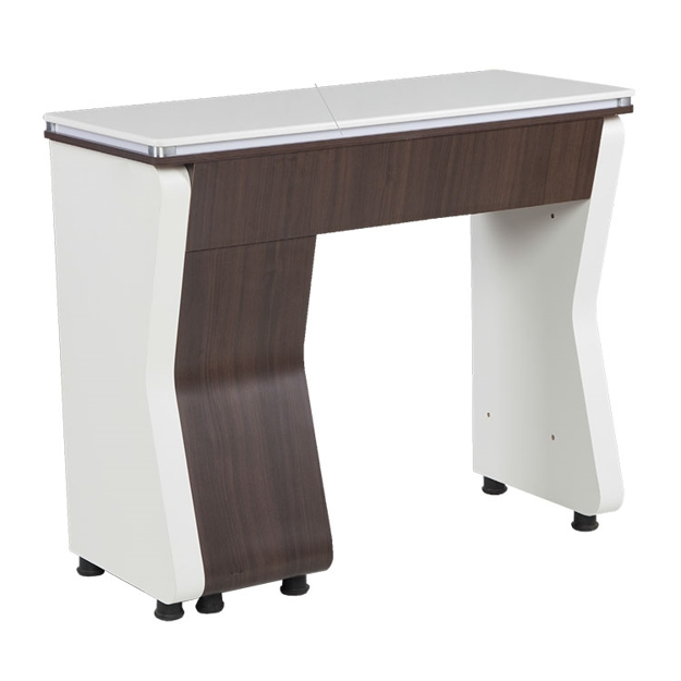 white / dark walnut NV manicure table