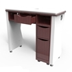 white / dark walnut NV manicure table back view