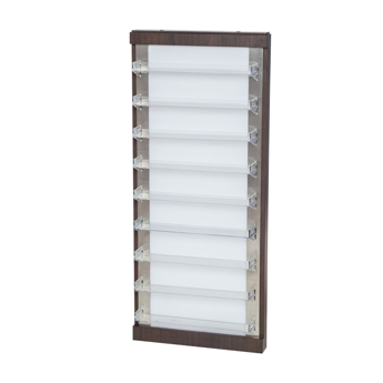 NV610 wall polish rack in dark walnut and white