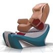 D7 pedicure chair in turquoise spa base and cappuccino top chair