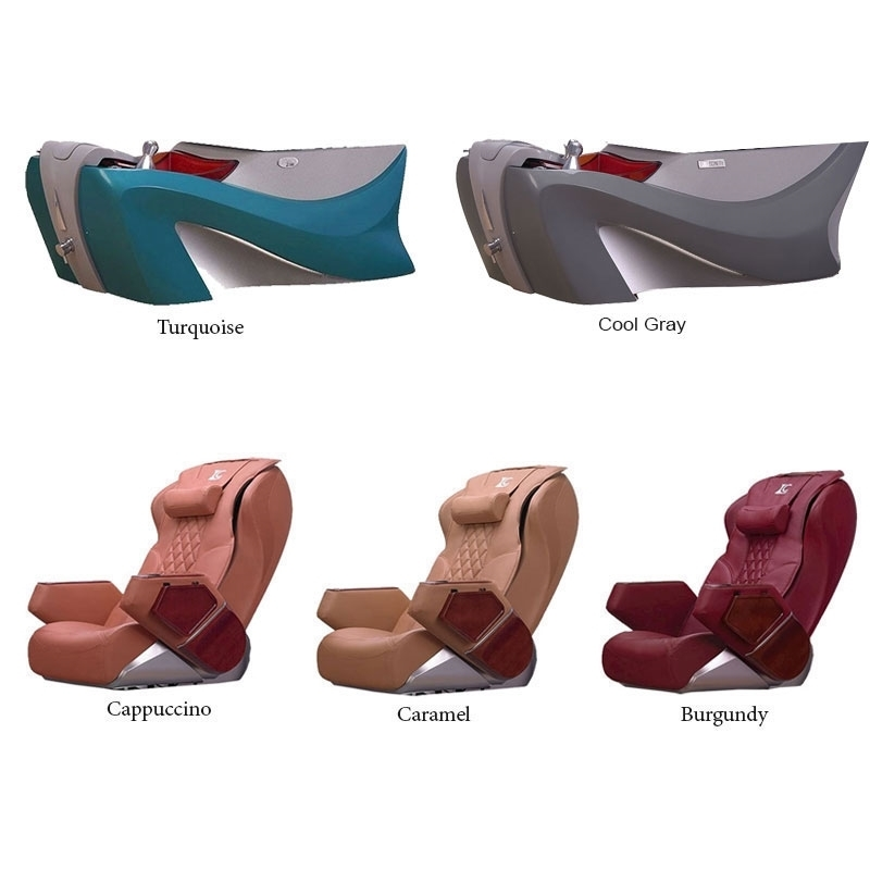 D7 pedicure spa: 2 pedicure spa bases and 3 chairs