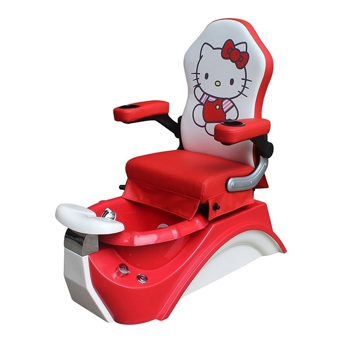 red kid pedicure chair