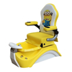 yellow kid pedicure chair