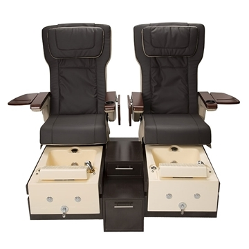 T-1000 pedicure bench in espresso color