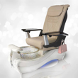 NB-919 in white marble base, crystal bowl and T-Timeless cream massage chair