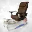 NB-919 in white marble base, crystal bowl and T-Timeless chocolate massage chair