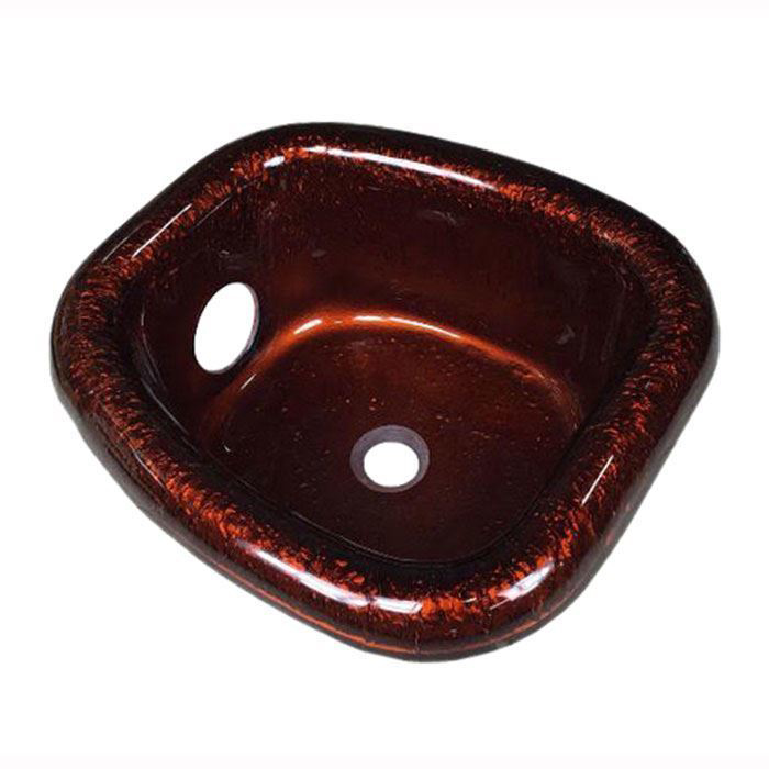 Chocolate glass bowl for Angel pedicure chair