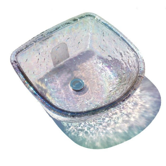 Crystal round ANS glass bowl