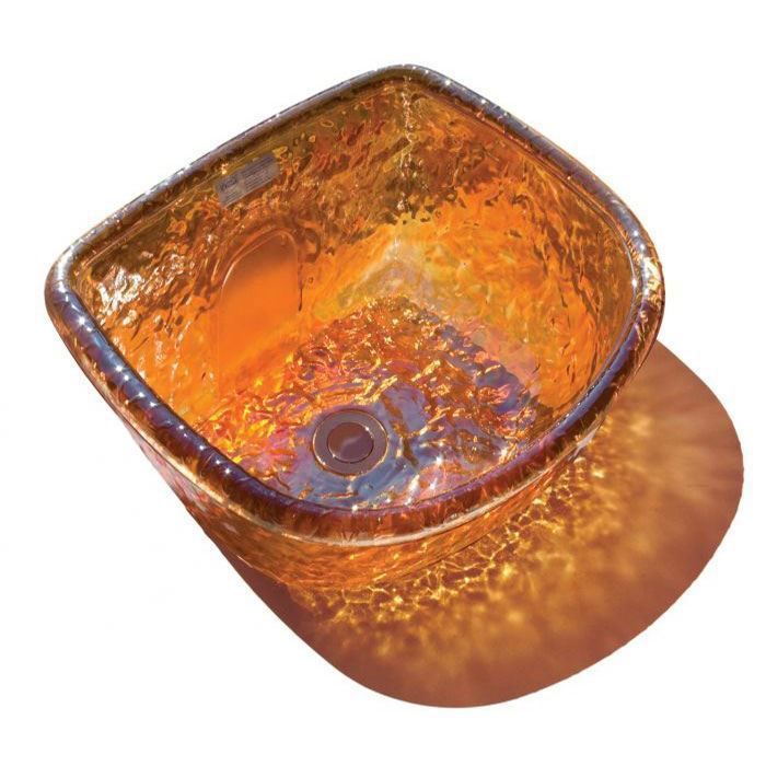 Gold round ANS glass bowl
